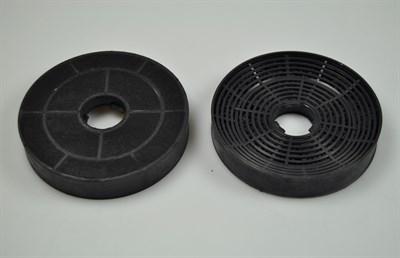 kohlefilter silverline dunstabzugshaube 130 mm 2 stck. Black Bedroom Furniture Sets. Home Design Ideas